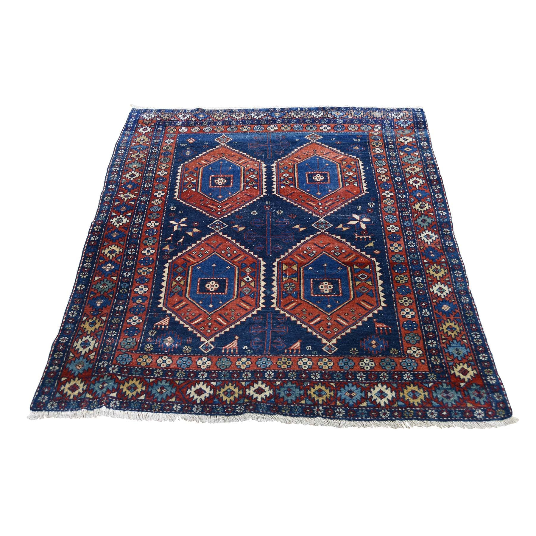 "Handmade Antique Rectangle Rug > Design# SH45470 > Size: 3'-6"" x 4'-6"" [ONLINE ONLY]"