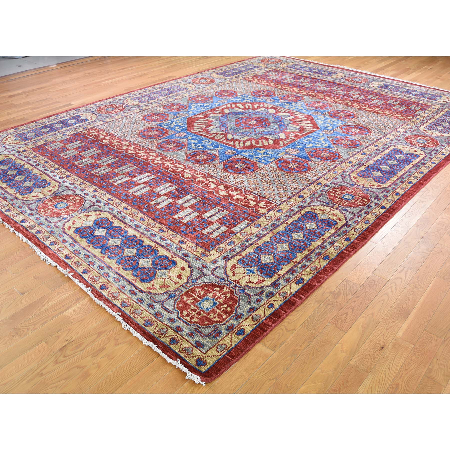 "Handmade Mamluk Rectangle Rug > Design# SH45891 > Size: 10'-0"" x 14'-3"" [ONLINE ONLY]"