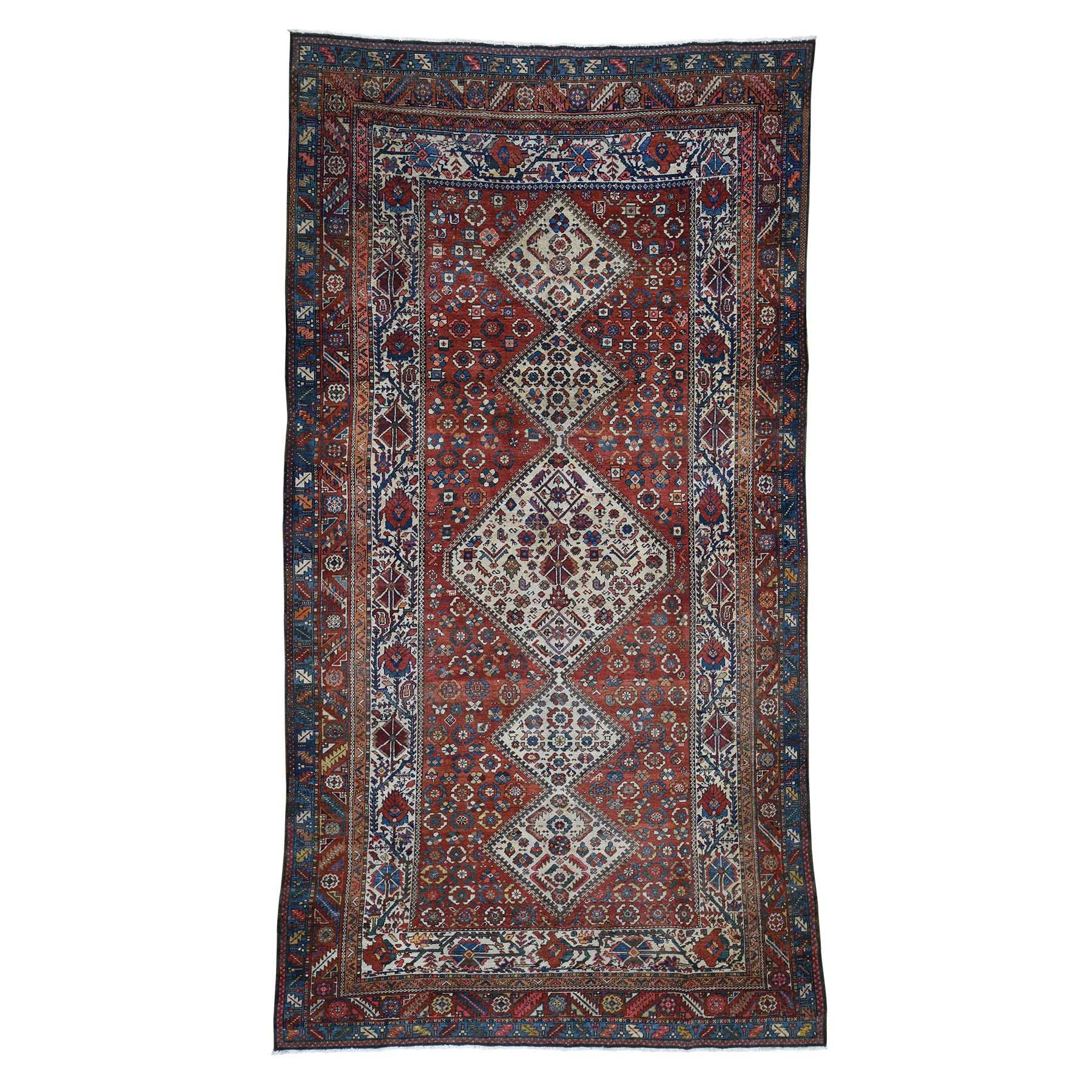 "Handmade Antique Rectangle Rug > Design# SH45913 > Size: 6'-8"" x 12'-8"" [ONLINE ONLY]"