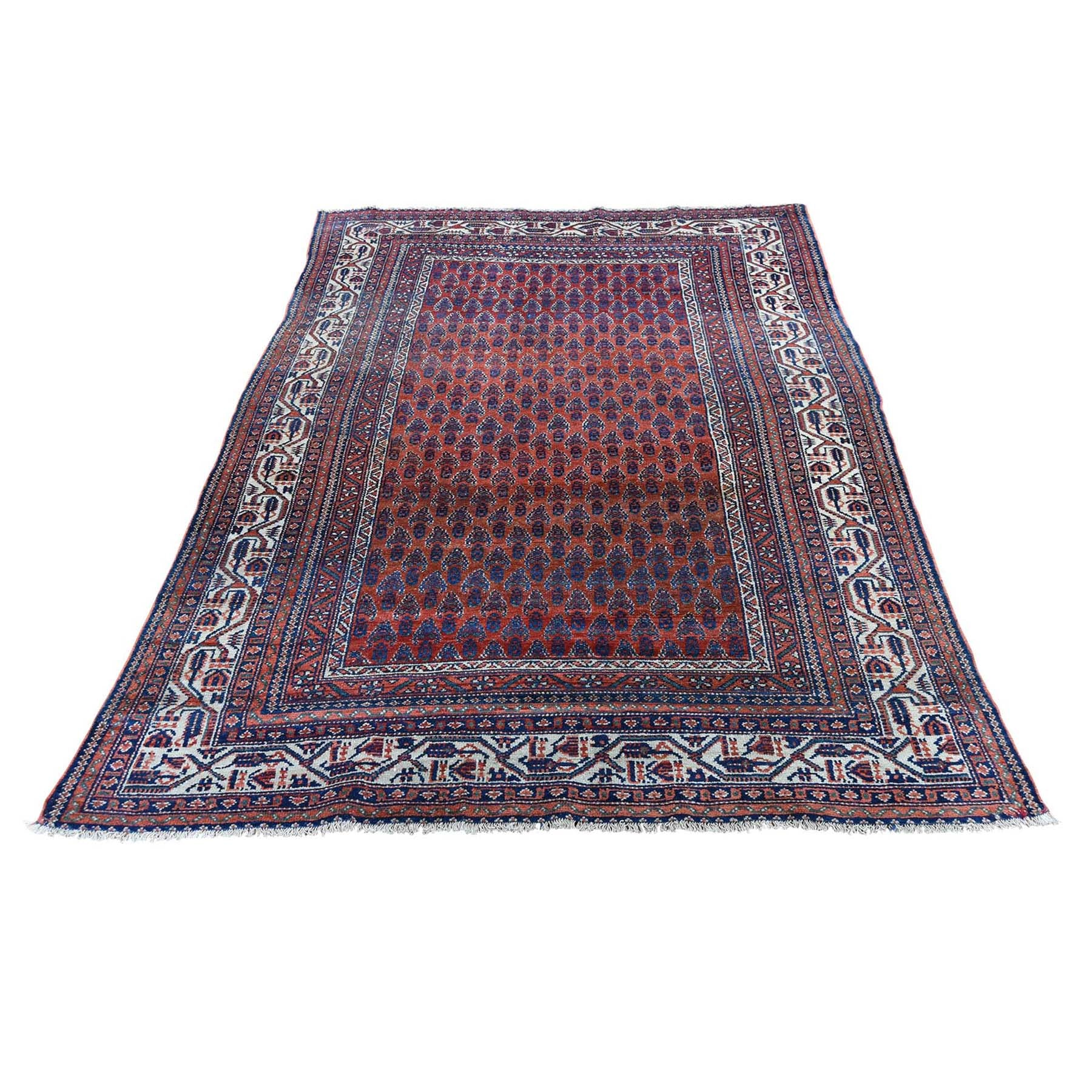 "Handmade Antique Rectangle Rug > Design# SH46195 > Size: 4'-5"" x 6'-5"" [ONLINE ONLY]"