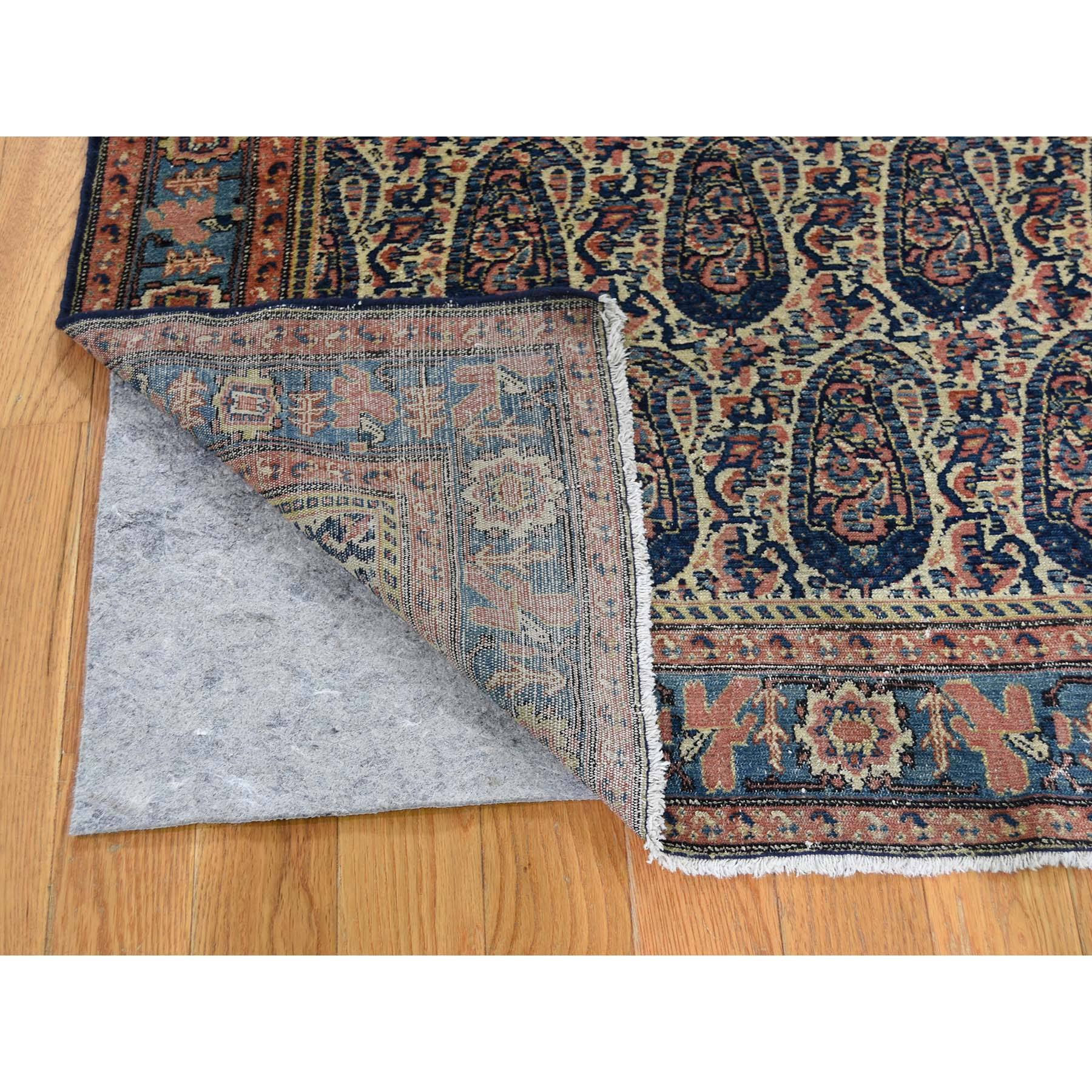 "Handmade Antique Rectangle Rug > Design# SH46437 > Size: 4'-4"" x 6'-4"" [ONLINE ONLY]"
