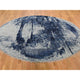 "Handmade Transitional Round Rug > Design# SH46644 > Size: 7'-10"" x 7'-10"" [ONLINE ONLY]"