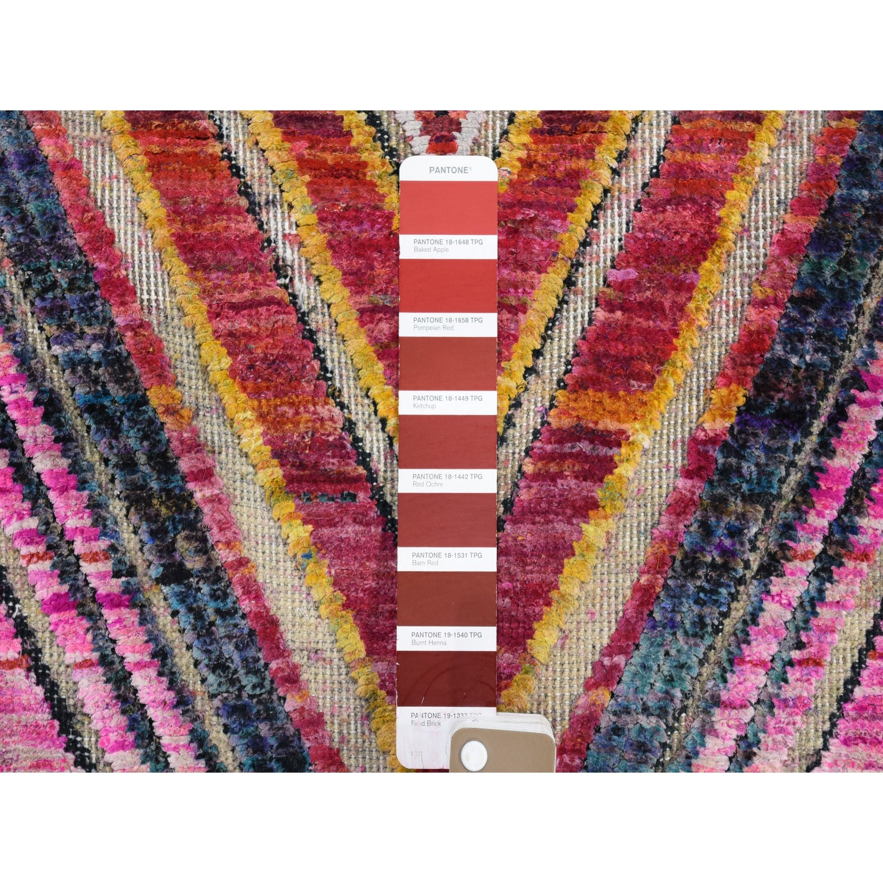 "Handmade Modern and Contemporary Rectangle Rug > Design# SH46938 > Size: 8'-0"" x 10'-0"" [ONLINE ONLY]"