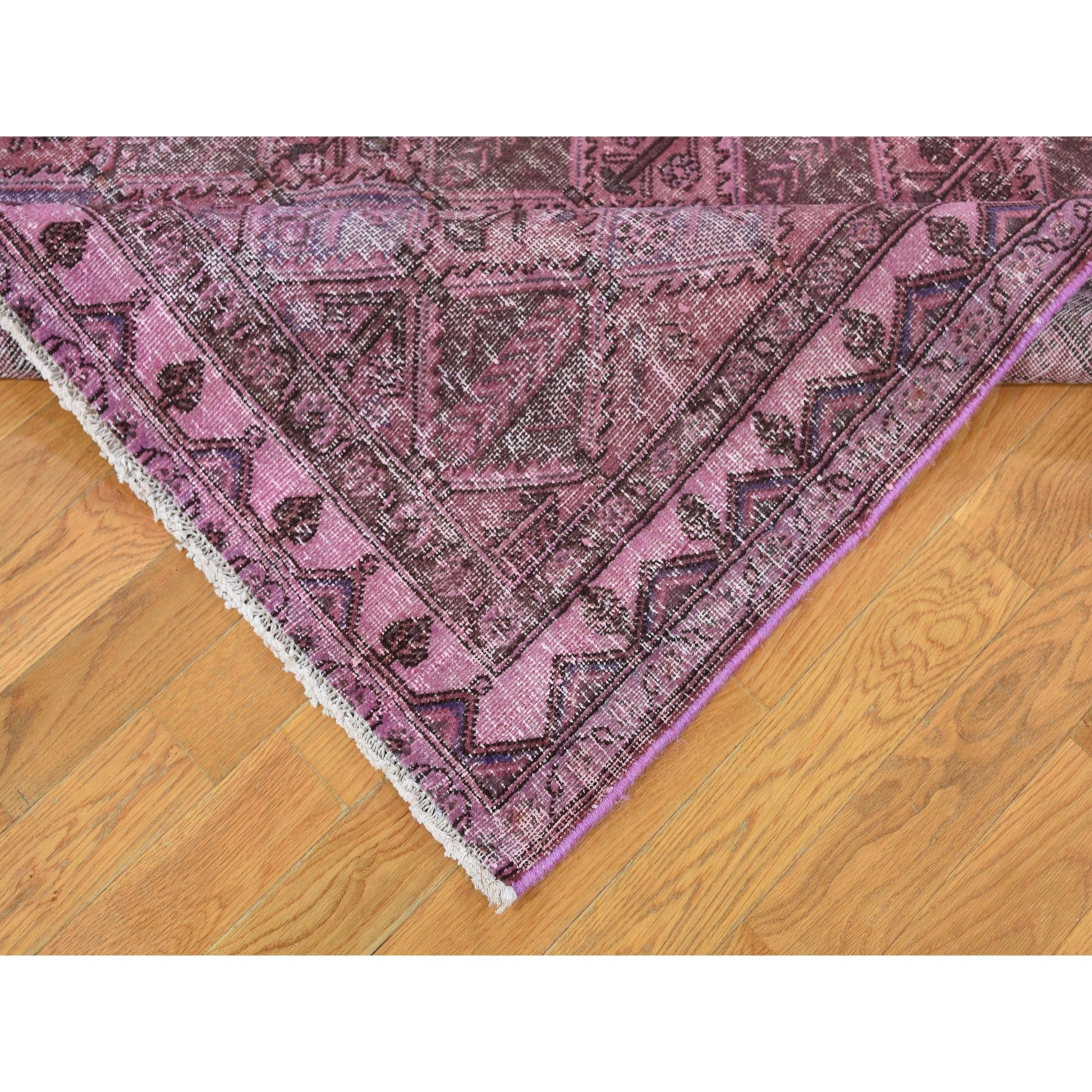 "Handmade Overdyed & Vintage Rectangle Rug > Design# SH47379 > Size: 5'-0"" x 9'-3"" [ONLINE ONLY]"