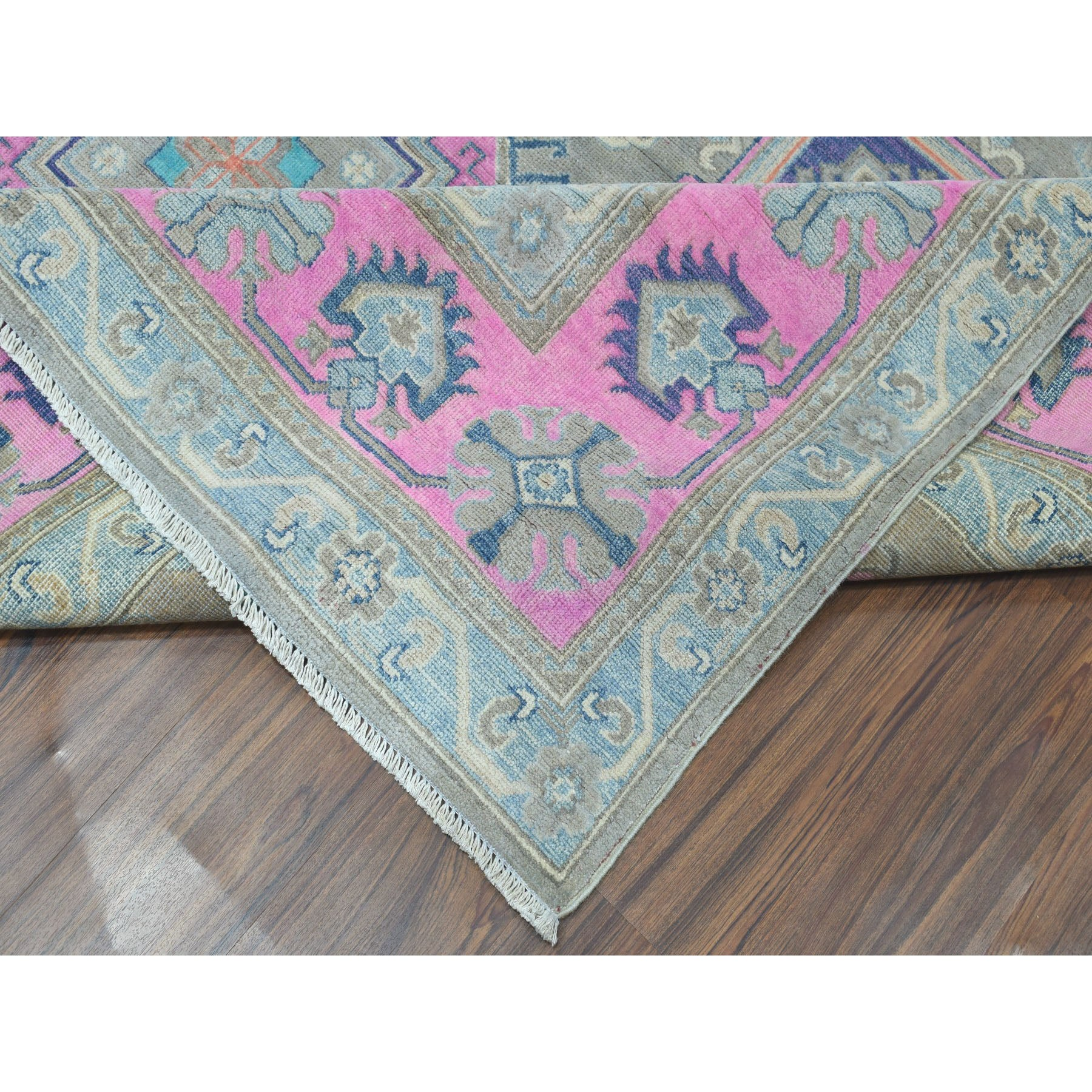"Handmade Kazak Rectangle Rug > Design# SH50554 > Size: 8'-0"" x 9'-9"" [ONLINE ONLY]"