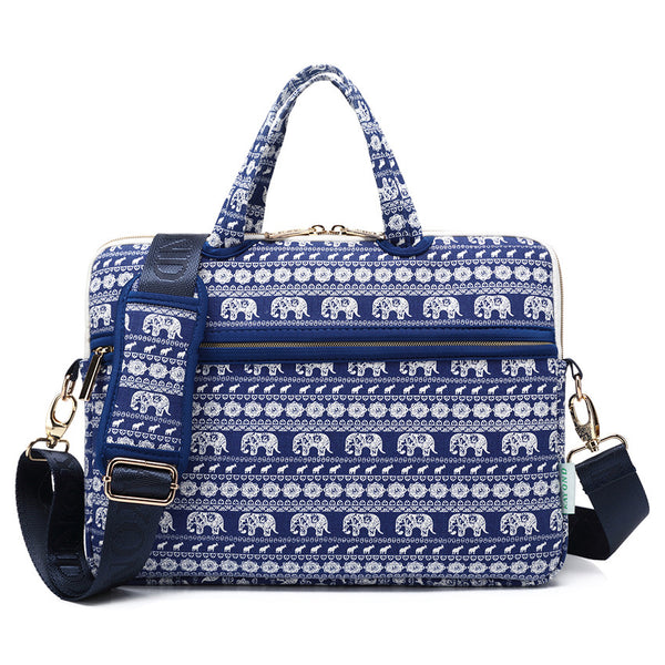 Blue Bohemian Elephant Messenger Bag