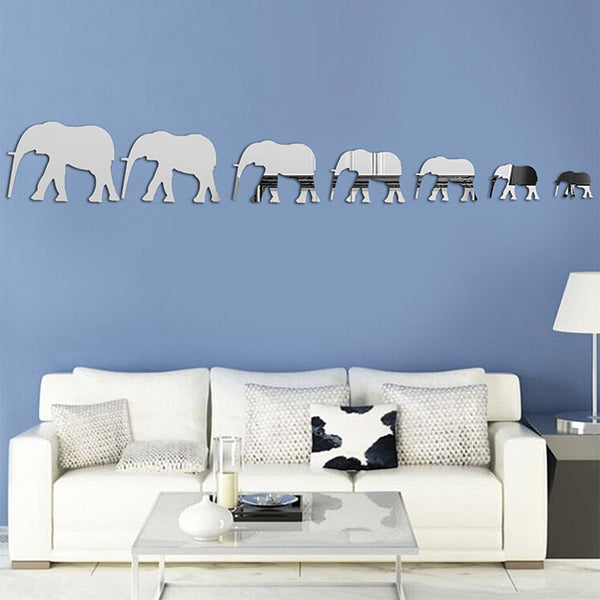 Elephant March Wall Sticker