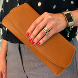 Leather/Suede Pommel Clutch