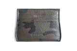 [Camo] Opal Credit Card Holder with 6 card slots and 1 center cash slot.