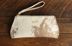 Cowhide Pommel Clutch front view in color [Cowhide D]