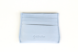 [Periwinkle] Opal Card Holder. Leather with 6 credit card slots and 1 center cash slot.