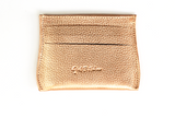 [Rose Gold] Opal Card Holder. Leather with 6 credit card slots and 1 center cash slot.