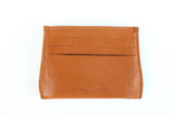 [Saddle Tan] Opal Card Holder with 6 card slots and center cash slot.