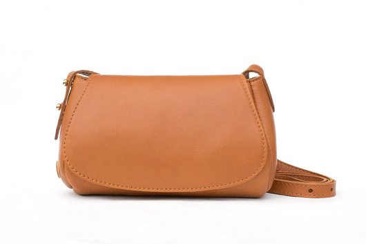 [Saddle Tan/Palomino] Small Crossbody Saddlebag