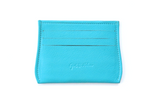 Opal .R. Helm leather Opal Card Holder in [Texas Turquoise] with 6 credit card slots and 1 center cash slot.