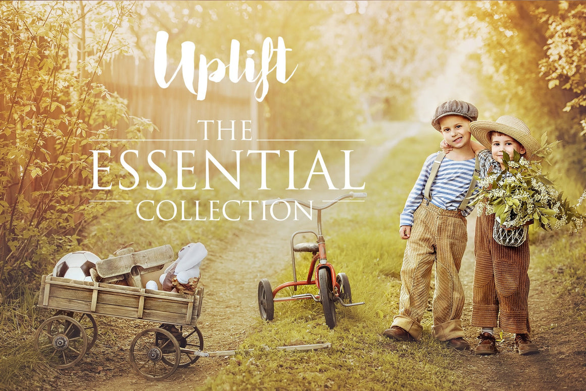 Uplift Workflow + Essential Collections BUNDLE - Uplift Photoshop Actions, Photoshop Overlays and Lightroom Presets