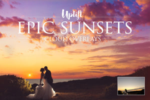 Epic Skies Sunset Overlays • 50% OFF! - Uplift Photoshop Actions, Photoshop Overlays and Lightroom Presets