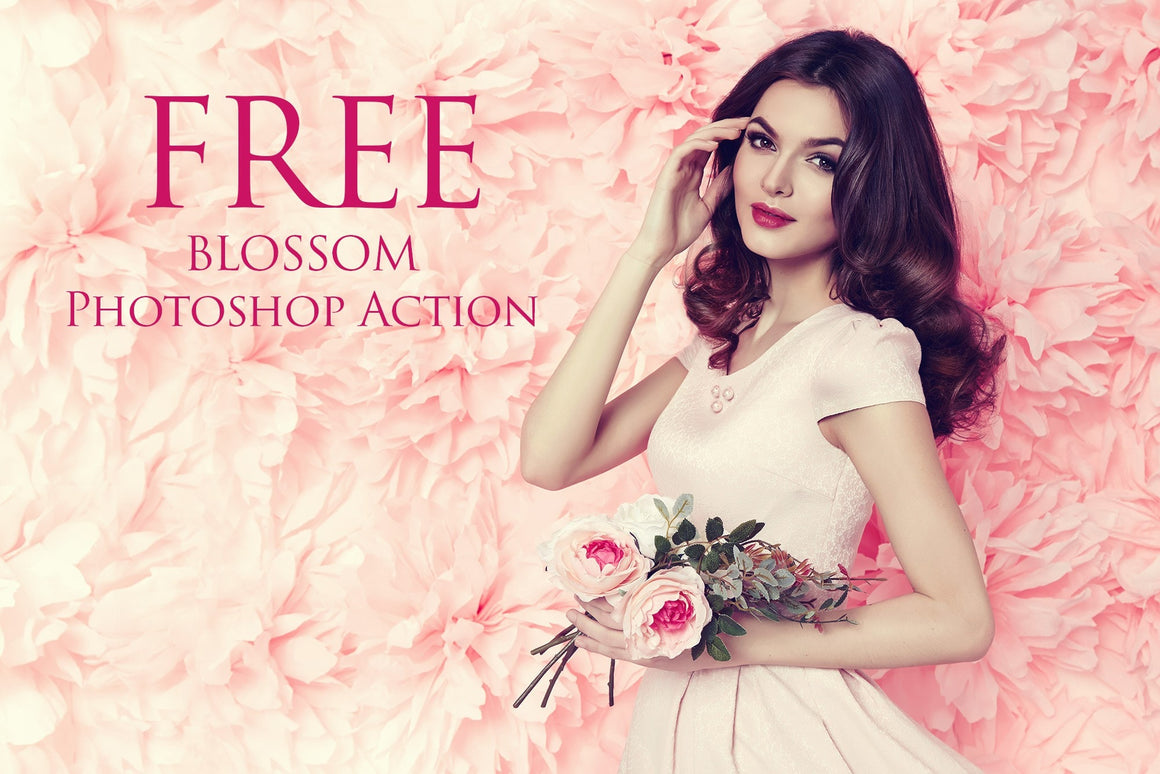 Blossom Photoshop Action: FREE - Uplift Photoshop Actions, Photoshop Overlays and Lightroom Presets