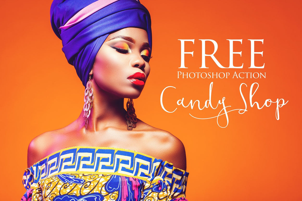 Candy Shop Photoshop Action: FREE