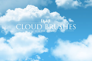 30 Real Cloud Brushes for Photoshop - Uplift Photoshop Actions, Photoshop Overlays and Lightroom Presets