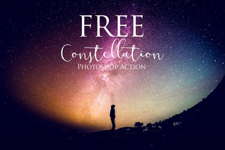 Constellation Photoshop Action: FREE