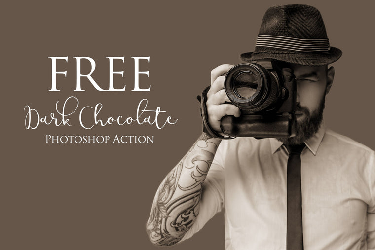 Dark Chocolate Photoshop Action: FREE