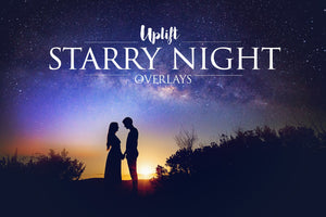 NEW! Starry Night Overlays • 50% OFF! - Uplift Photoshop Actions, Photoshop Overlays and Lightroom Presets