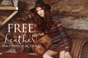 Leather Photoshop Action: FREE - Uplift Photoshop Actions, Photoshop Overlays and Lightroom Presets