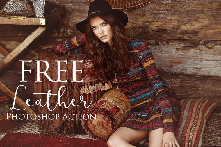 Leather Photoshop Action: FREE