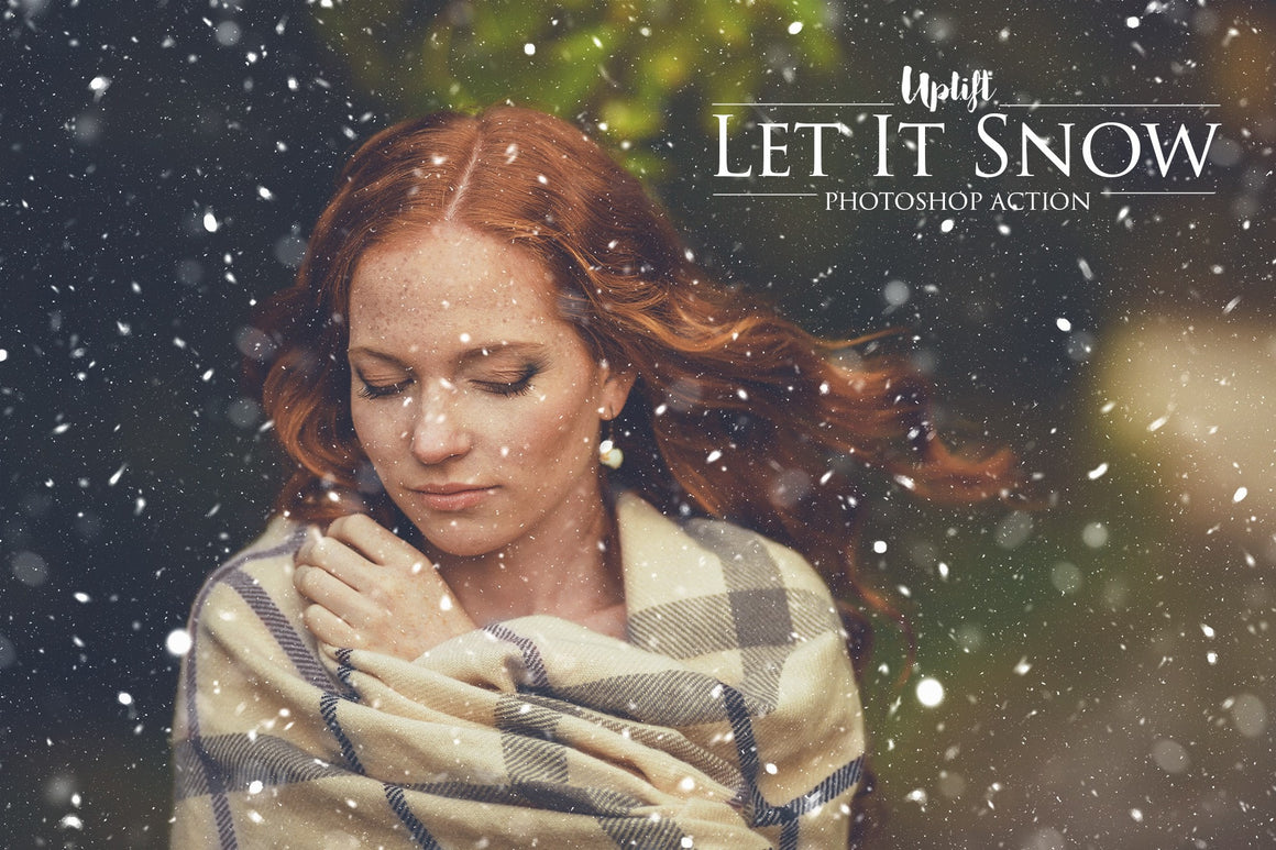 Winter Photoshop Action & Overlay Bundle SECRET SALE - Uplift Photoshop Actions, Photoshop Overlays and Lightroom Presets