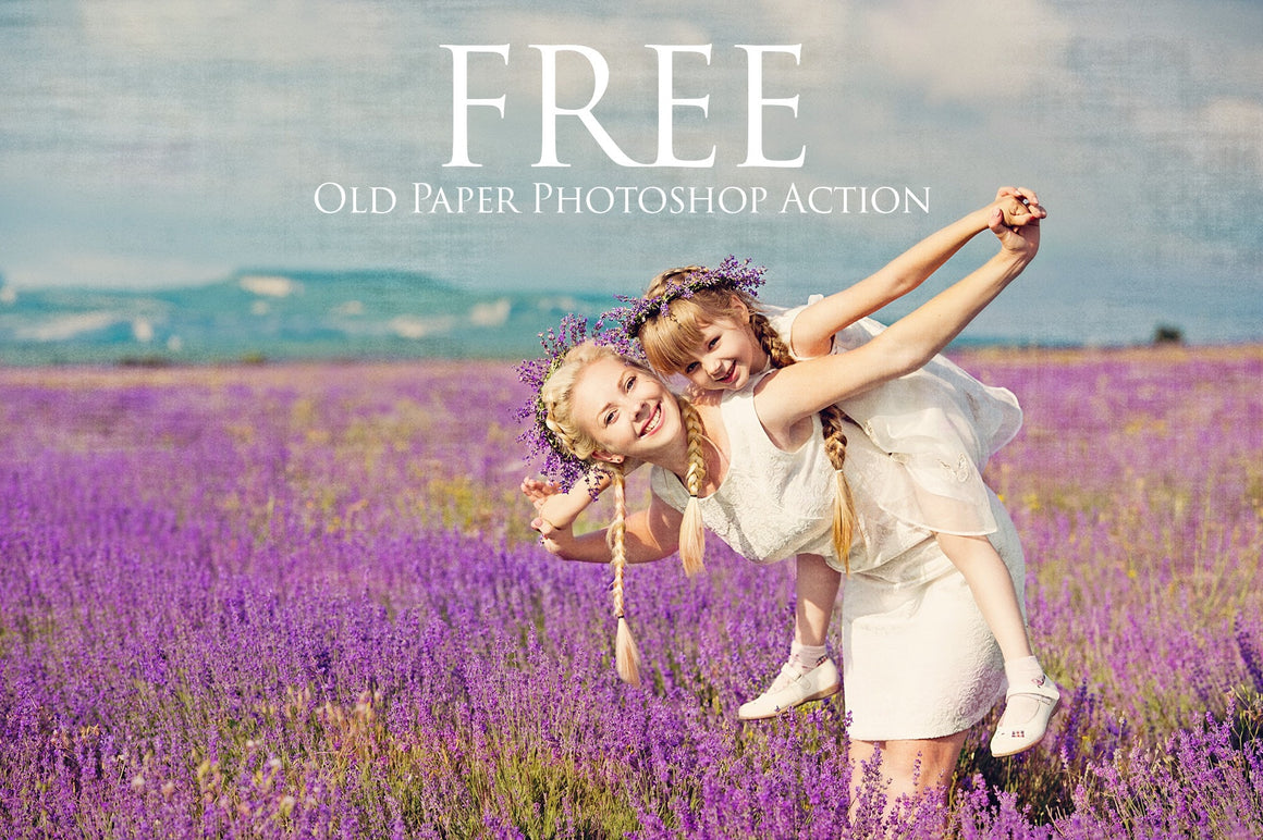 Old Paper Texture Photoshop Action: FREE - Uplift Photoshop Actions, Photoshop Overlays and Lightroom Presets