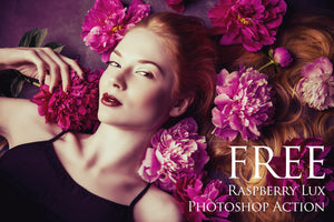 Raspberry Lux Photoshop Action: FREE - Uplift Photoshop Actions, Photoshop Overlays and Lightroom Presets