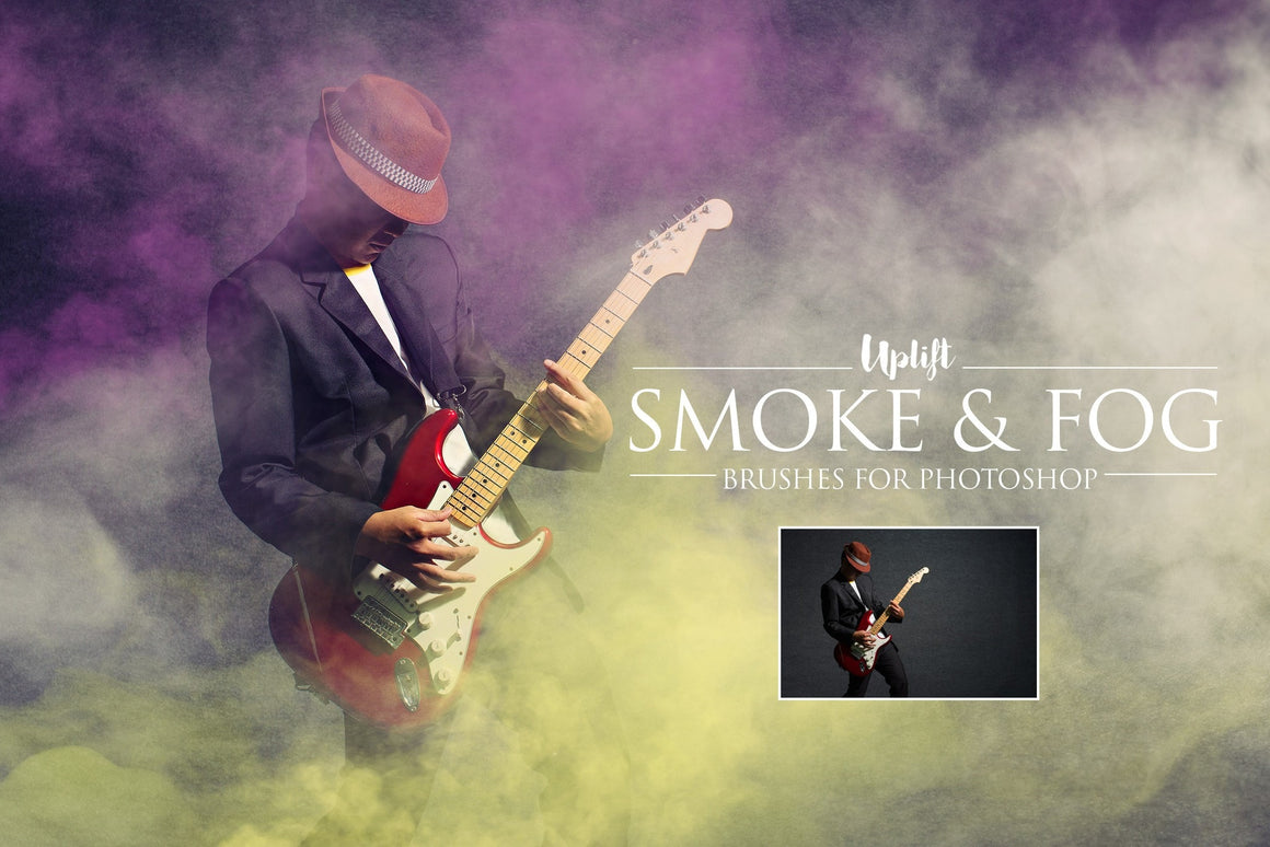 Smoke & Fog Brushes for Photoshop - Uplift Photoshop Actions, Photoshop Overlays and Lightroom Presets