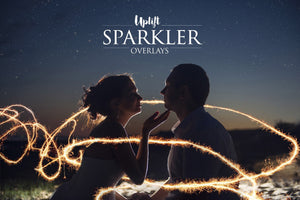160 Sparkler Overlays - Uplift Photoshop Actions, Photoshop Overlays and Lightroom Presets