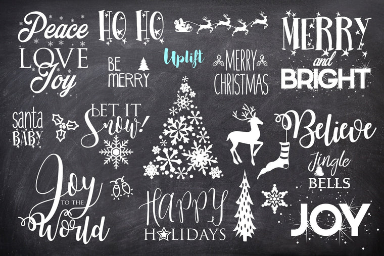 Merry & Bright Christmas Overlays