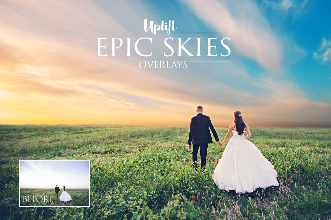 Epic Skies Cloud Overlays - Uplift Photoshop Actions, Photoshop Overlays and Lightroom Presets