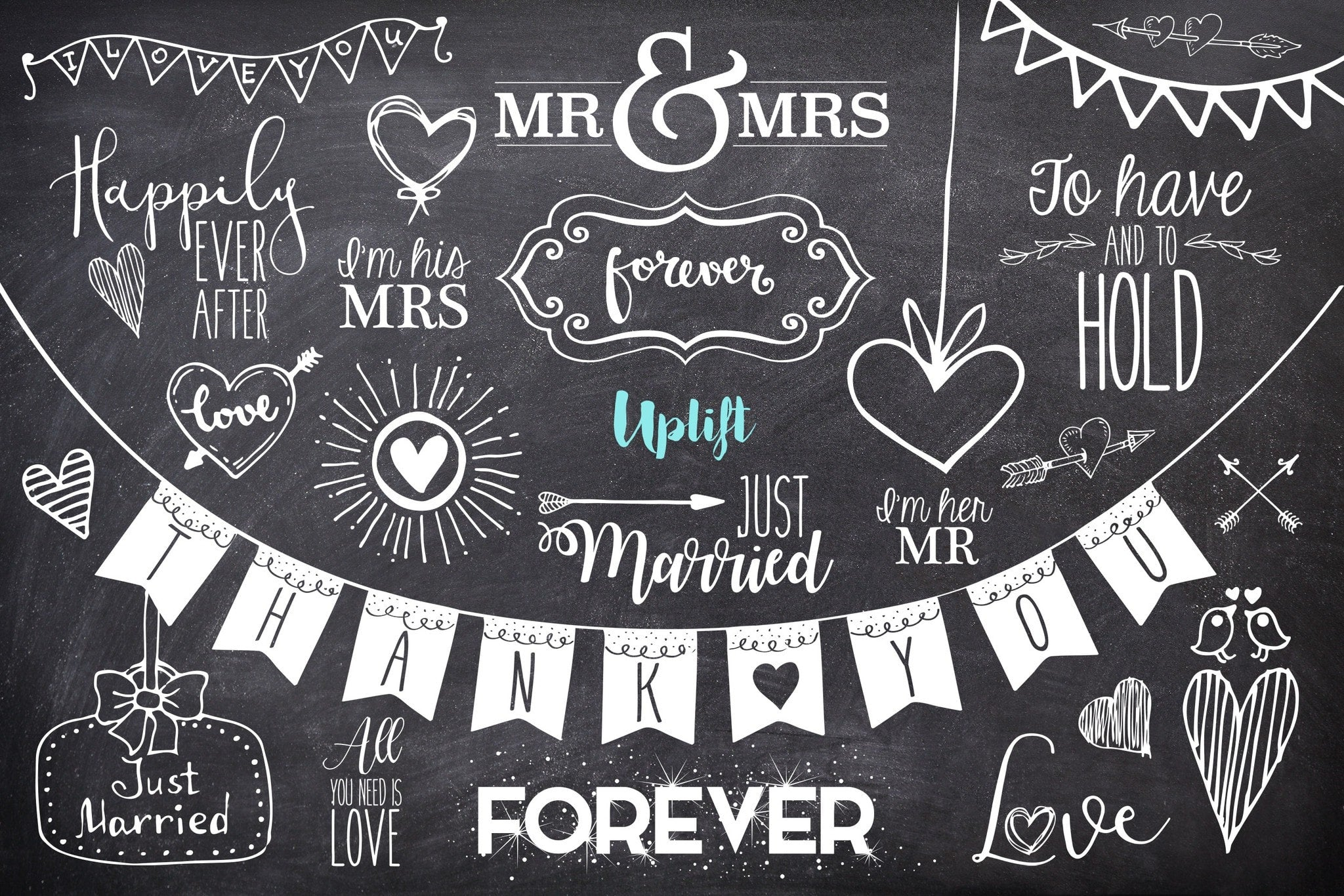 happily ever after wedding overlays uplift photoshop actions
