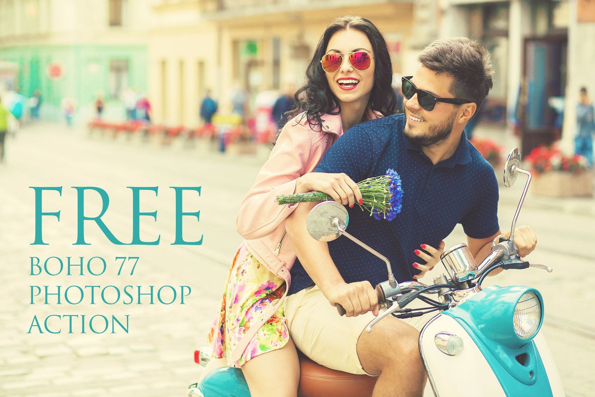 BOHO 77 Photoshop Action: FREE - Uplift Photoshop Actions, Photoshop Overlays and Lightroom Presets
