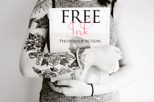 Ink Photoshop Action: FREE - Uplift Photoshop Actions, Photoshop Overlays and Lightroom Presets