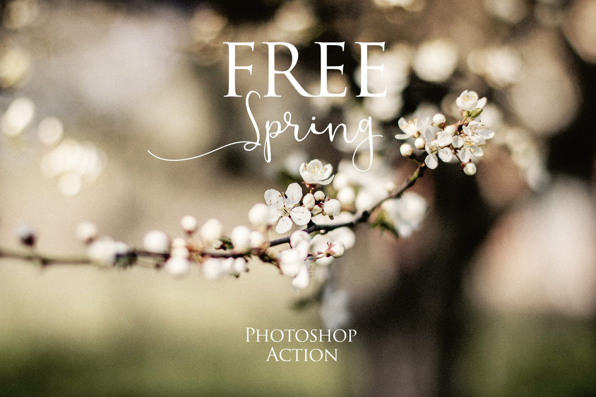 Spring Photoshop Action: FREE - Uplift Photoshop Actions, Photoshop Overlays and Lightroom Presets
