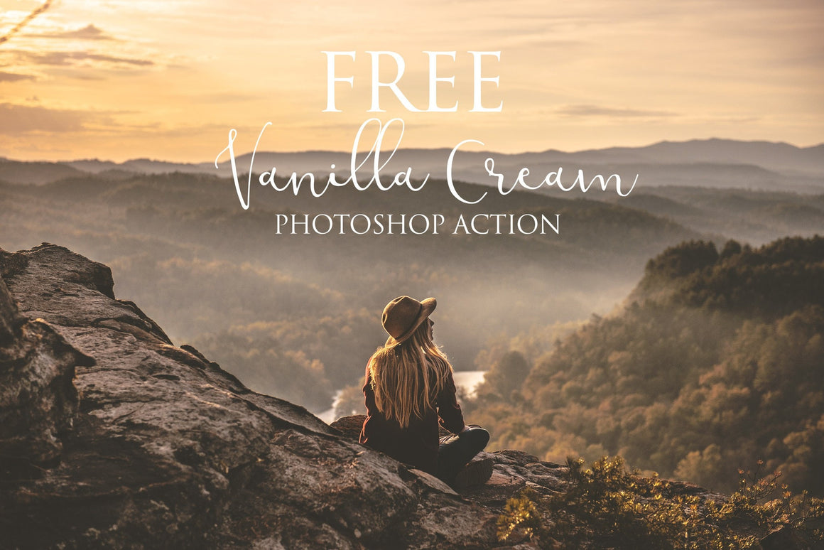 Vanilla Cream Photoshop Action: FREE - Uplift Photoshop Actions, Photoshop Overlays and Lightroom Presets