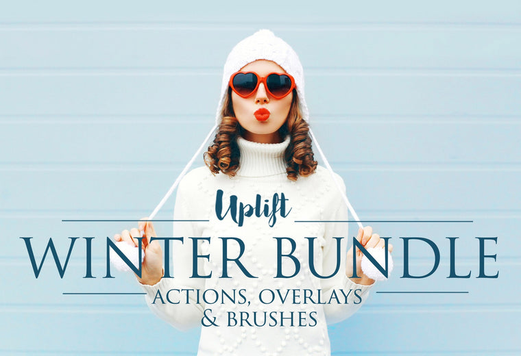 Winter Photoshop Action, Overlays & Brush BUNDLE