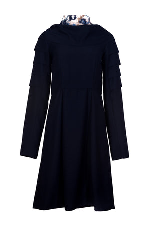 Eloise Navy Dress - VeRaf Clothing