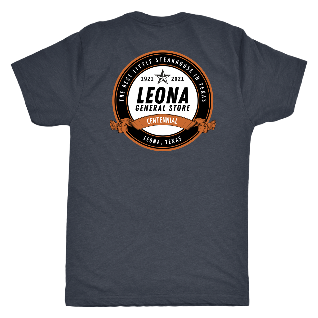 THE LEONA GENERAL STORE CENTENNIAL T-SHIRT 1921-2021