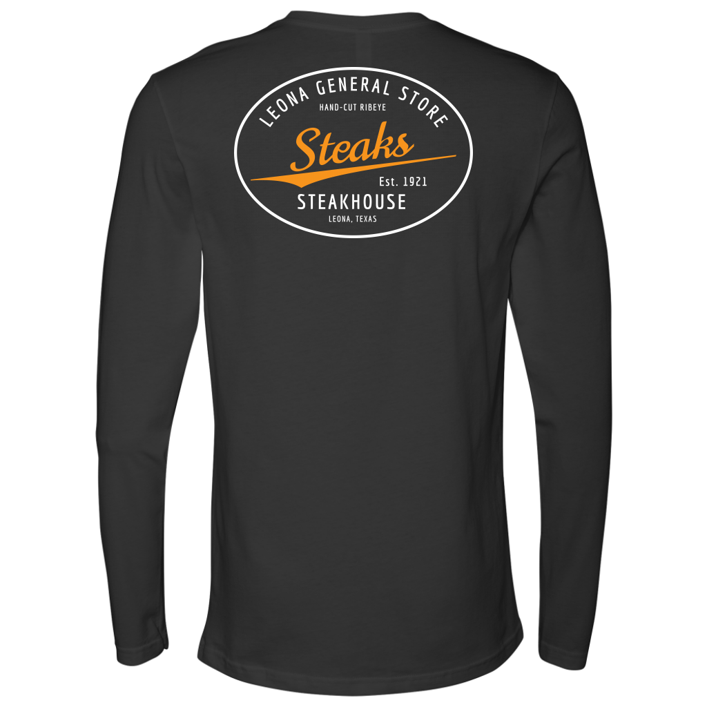 LEONA GENERAL STORE LONG-SLEEVE STEAKS T-SHIRT