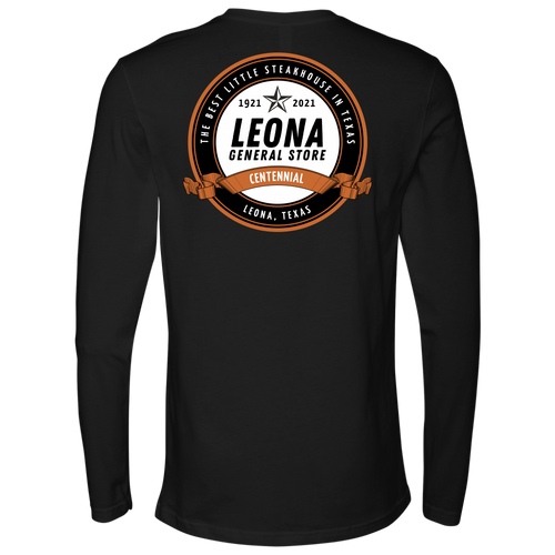 THE LEONA GENERAL STORE CENTENNIAL LONG SLEEVE T-SHIRT 1921-2021