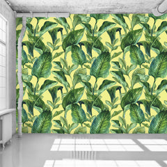 Banana Leaves Yellow Wallpaper - WYNIL by NumerArt Wallpaper and Art