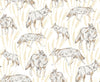 Coyote Golden Wallpaper - WYNIL by NumerArt Wallpaper and Art