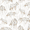 Coyote Putty Wallpaper