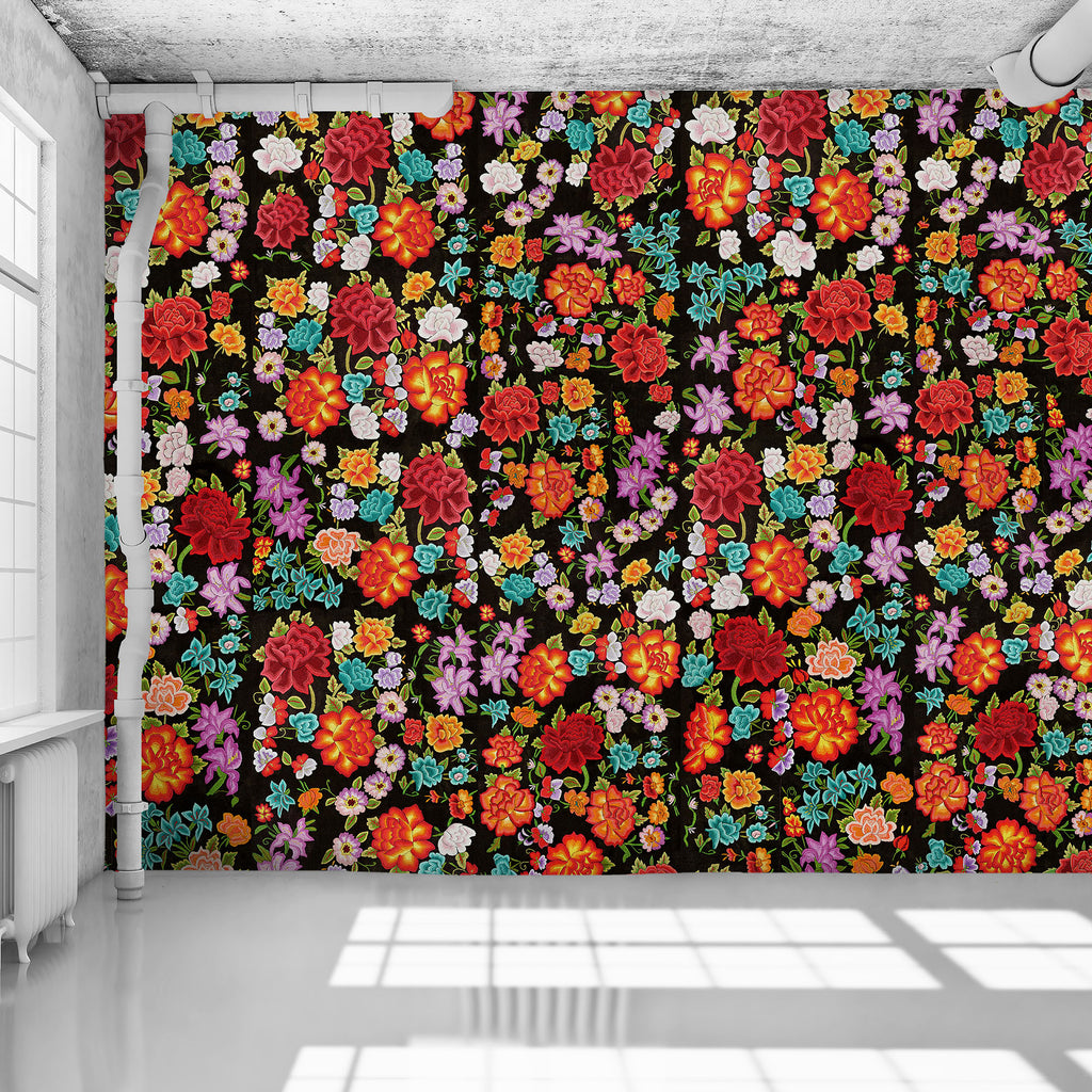 Original Frida Flowers - WYNIL by NumerArt Wallpaper and Art